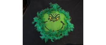 Grinch Metal Sign