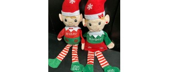 Girl and Boy Plush Elves