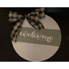 Wooden Sign - Welcome
