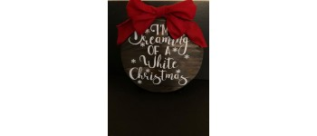 "Wooden Sign - ""White Christmas"""