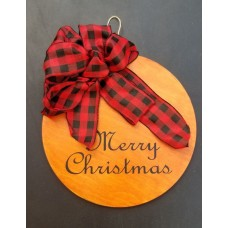 "Wooden Sign - ""Merry Christmas"""